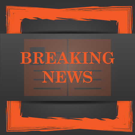 39711807 - breaking news icon. internet button on grey background.