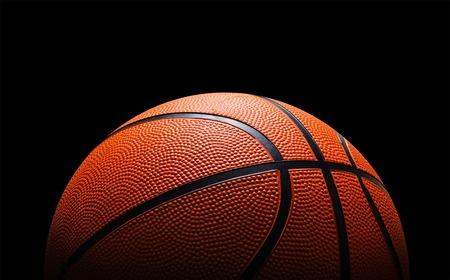 39053090 - basketball against black